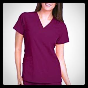 Barco one wine colored xs scrubs